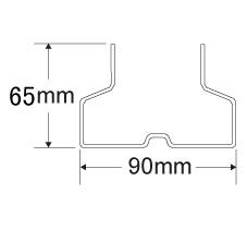 90mmX65mm立柱截面数据