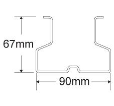 90mmX67mm立柱截面数据