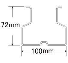 100mmX72mm立柱截面数据