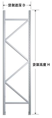 重型货架立柱柱片实物展示